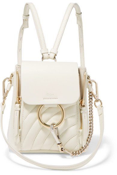 Chloé   Faye mini quilted leather backpack   NET-A-PORTER.COM
