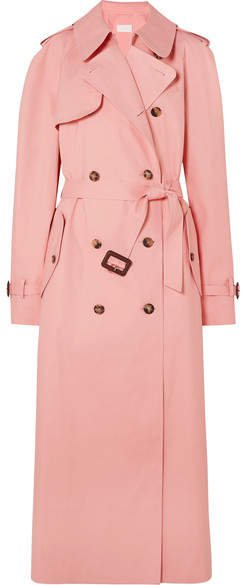 Mackintosh Belted Cotton Trench Coat - Pink