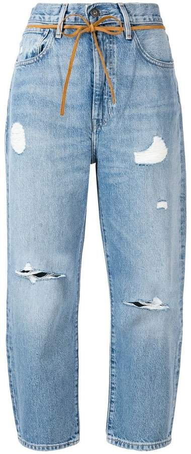 Made & Crafted cropped distressed jeans