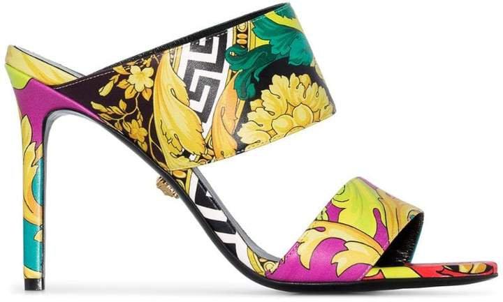 Barocco print 95mm sandals