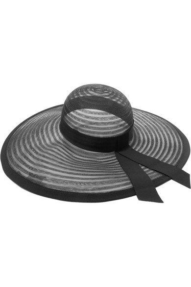 Eugenia Kim | Bunny grosgrain-trimmed mesh hat | NET-A-PORTER.COM