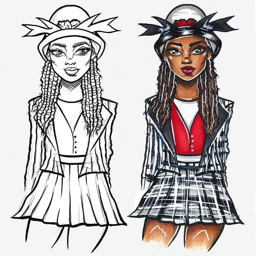 """S H A N N O N • H A N S E N on Instagram: """"Very quick Dionne from Clueless, sketch through to final illustration!"""""""
