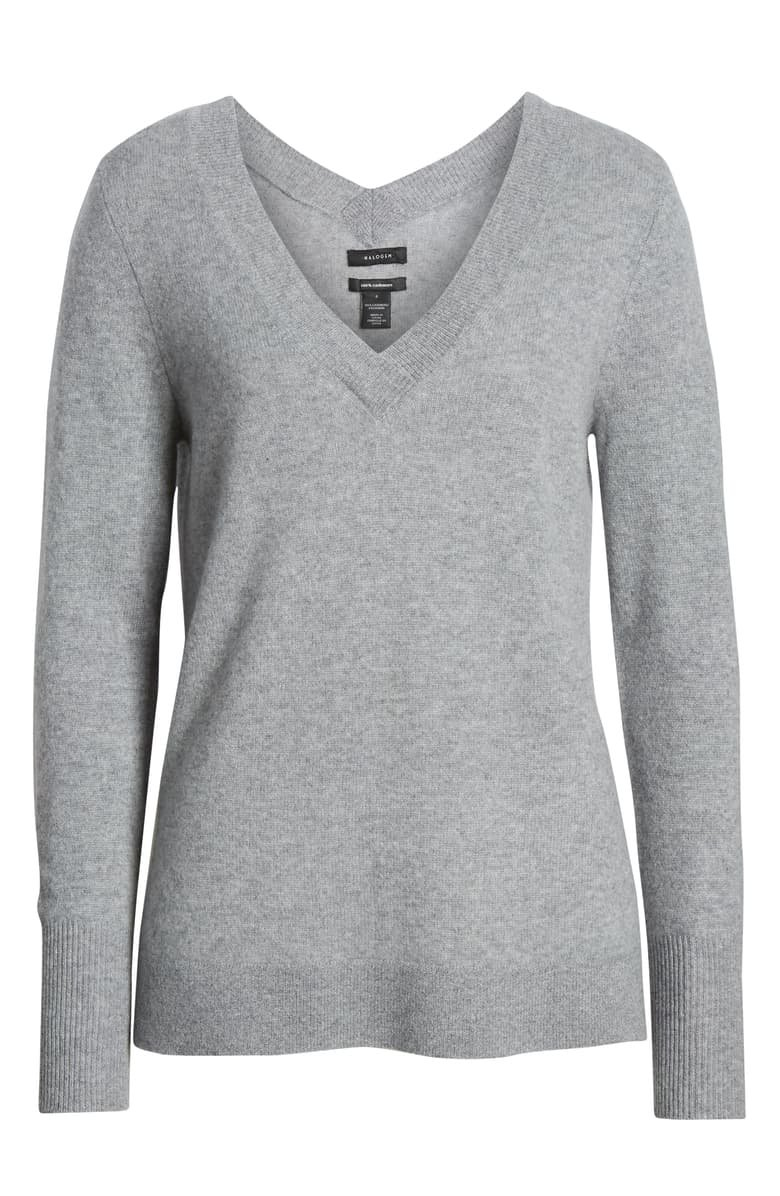Halogen® V-Neck Cashmere Sweater | Nordstrom