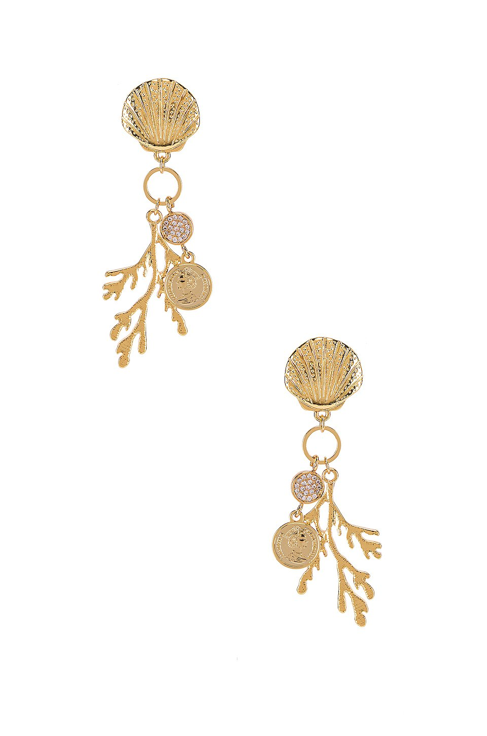 Shell & Coral Earring