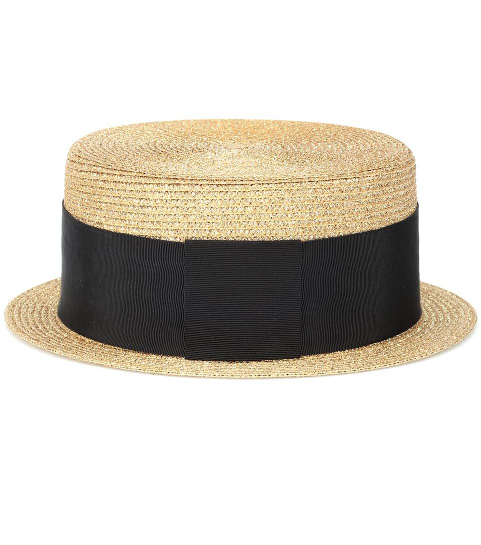 Metallic Boater Hat | Saint Laurent - Mytheresa