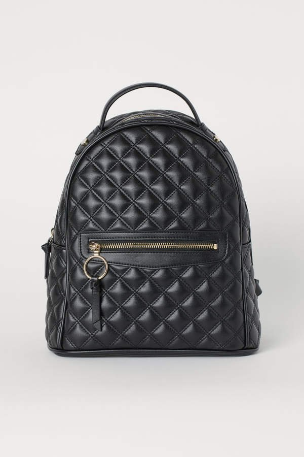 Quilted Backpack - Black