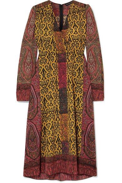 Etro | Printed crepe de chine wrap dress | NET-A-PORTER.COM
