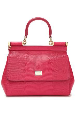 Lizard-effect leather shoulder bag | DOLCE & GABBANA | Sale up to 70% off | THE OUTNET