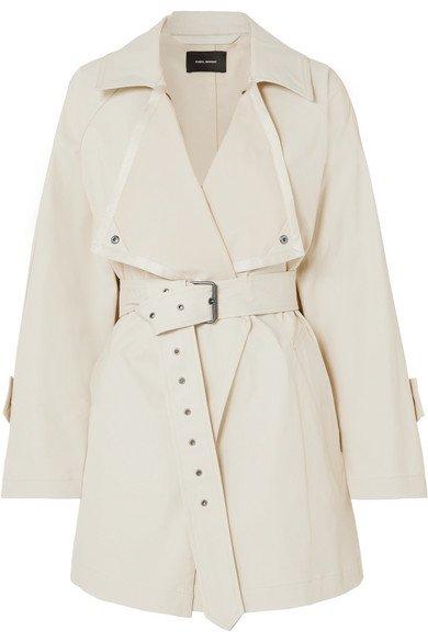 Isabel Marant | Jamelo belted cotton-blend gabardine trench coat | NET-A-PORTER.COM