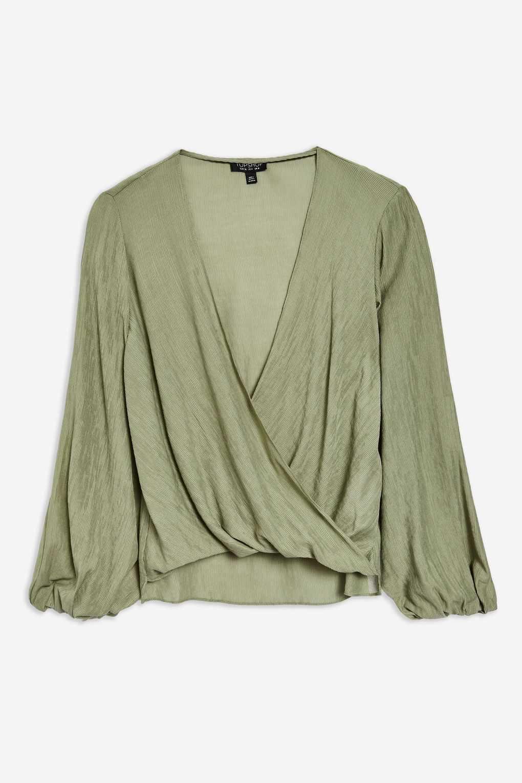 Chemisier Cache-Cœur Décontracté Drapé topshop green blouse