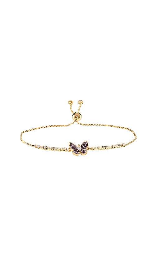 Vanessa Mooney The Monarch Bracelet in Gold & Red   REVOLVE