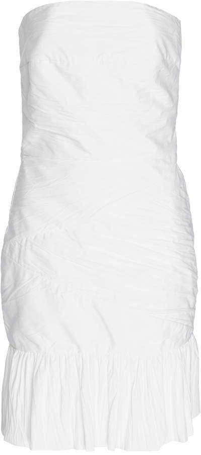 Zeynep Arçay Crinkled Cotton Mini Dress