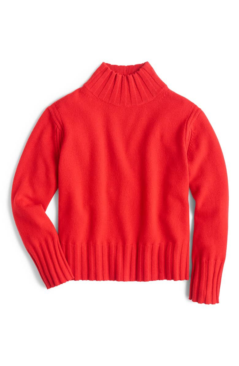 J.Crew Relaxed Mock Neck Cashmere Sweater | Nordstrom