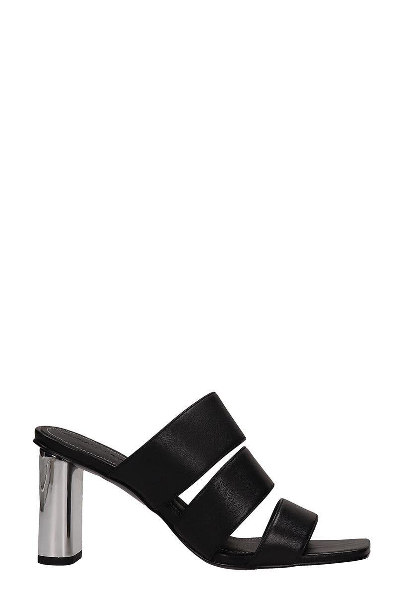 Kendall + Kylie Black Leather Leila Sandals