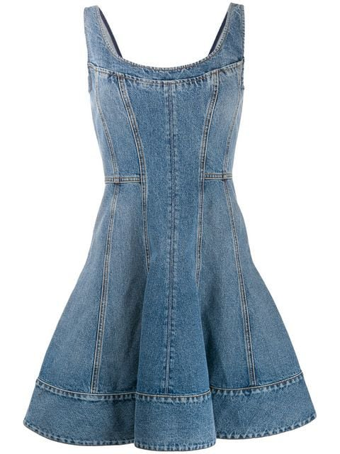 Alexander McQueen Denim Dress - Farfetch