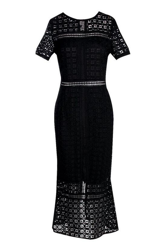 Boutique Crochet Midi Dress | Boohoo