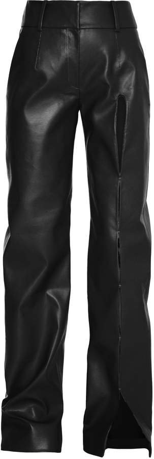 Aleksandre Akhalkatsishvili Cut Out Faux Leather Pants
