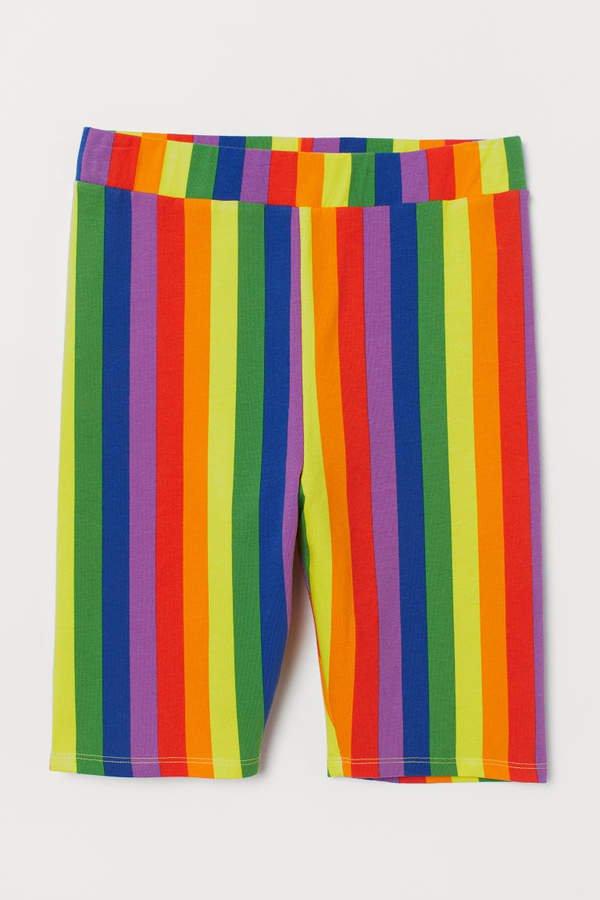 Cotton Jersey Cycling Shorts - Yellow