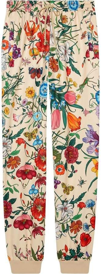 Jogging pant with Flora print