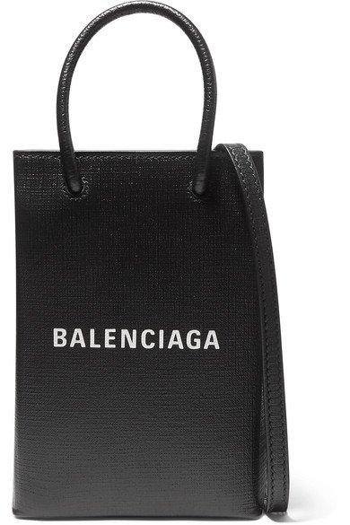 Balenciaga | Mini printed textured-leather tote | NET-A-PORTER.COM