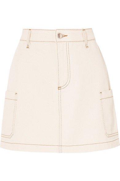 ALEXACHUNG   Denim mini skirt   NET-A-PORTER.COM