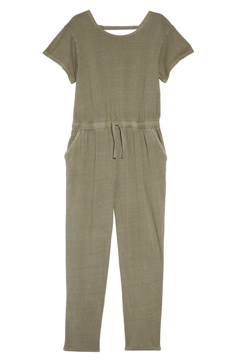 Treasure & Bond Cotton Jumpsuit (Big Girls) | Nordstrom