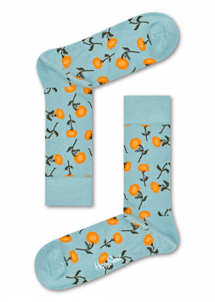 Light Blue socks: Sunflower pattern   Happy Socks