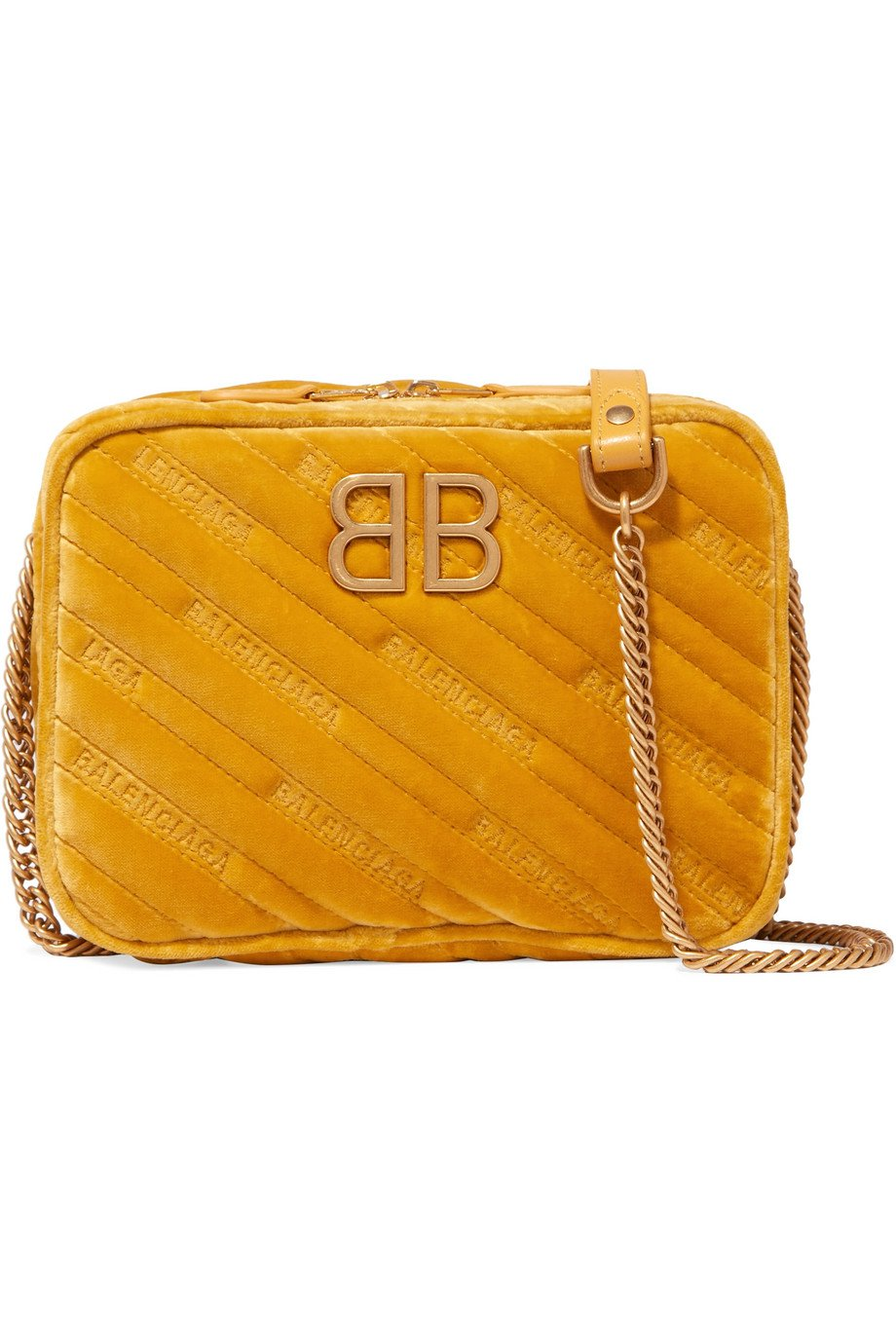 Balenciaga BB Reporter velvet shoulder bag
