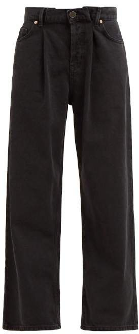 Fold Dad Baggy Boyfriend Jeans - Womens - Black