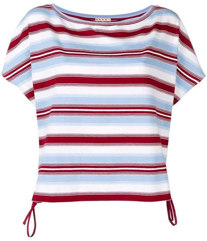 striped round neck T-shirt