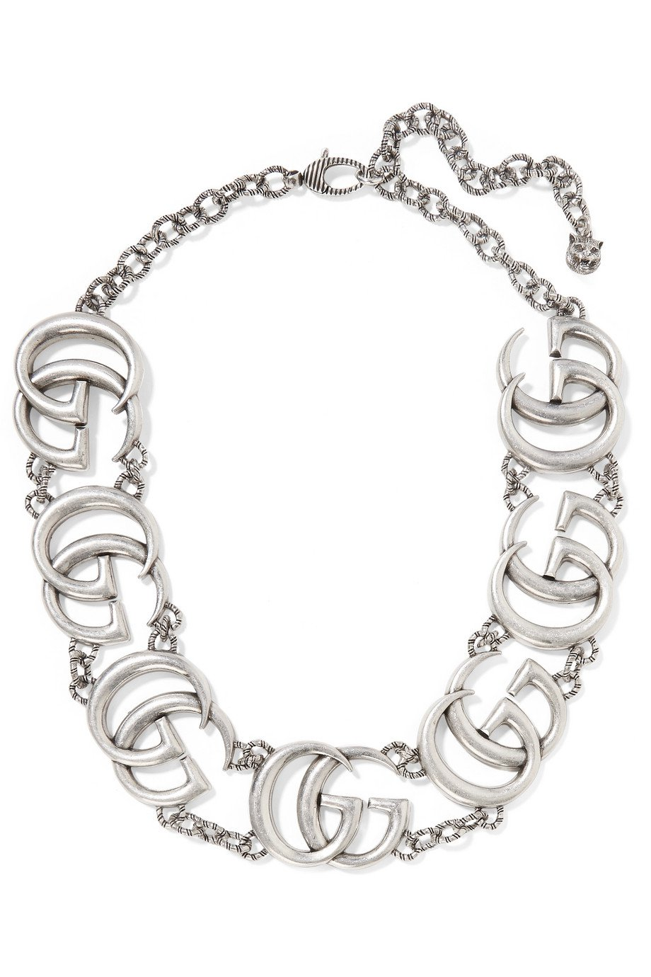 Gucci   Silver-plated necklace   NET-A-PORTER.COM