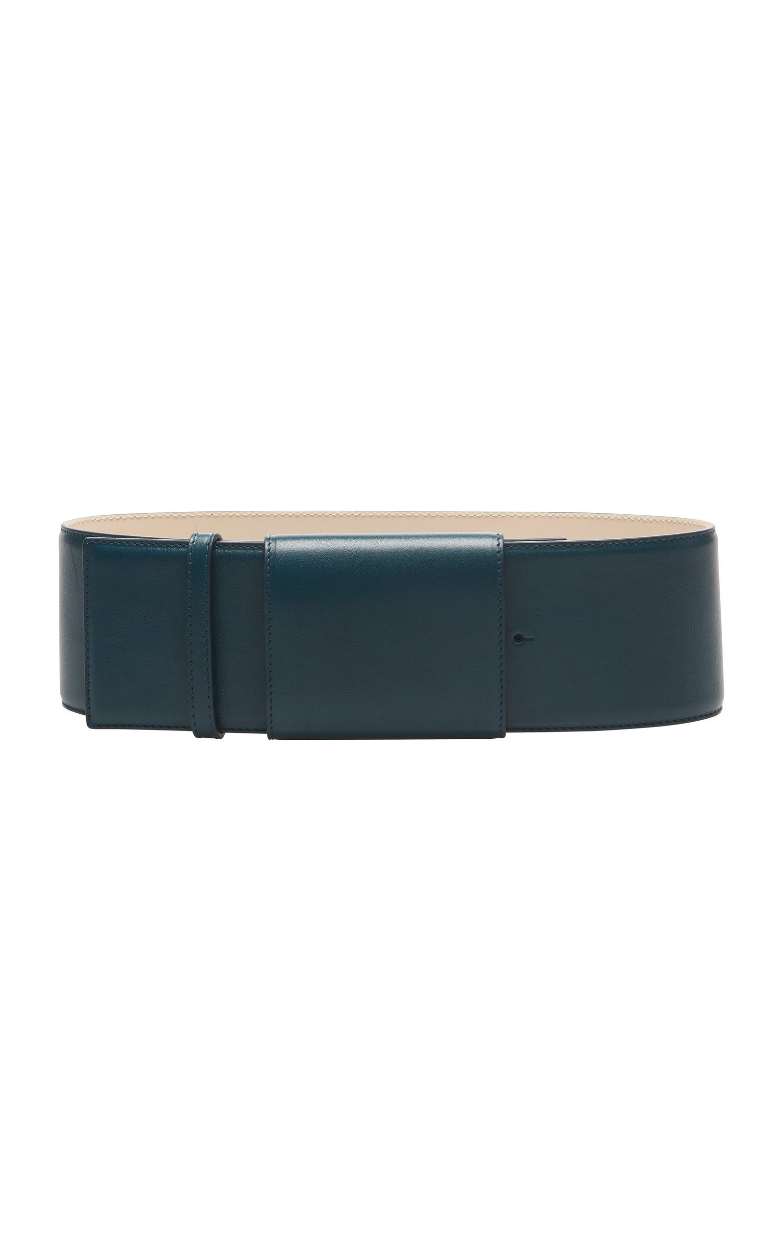 Marni Covered-Buckle Leather Belt Size: 85 cm
