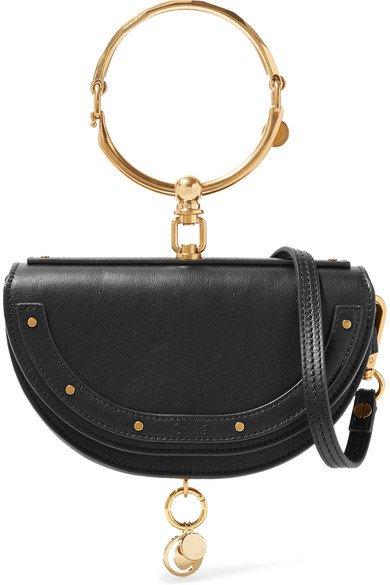 Chloé | Nile Bracelet mini Schultertasche aus strukturiertem Leder | NET-A-PORTER.COM