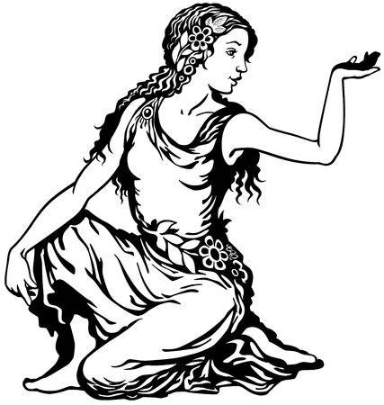 Virgo Astrological Zodiac Sign, Black And White Image Royalty Free Cliparts, Vectors, And Stock Illustration. Image 28068435.
