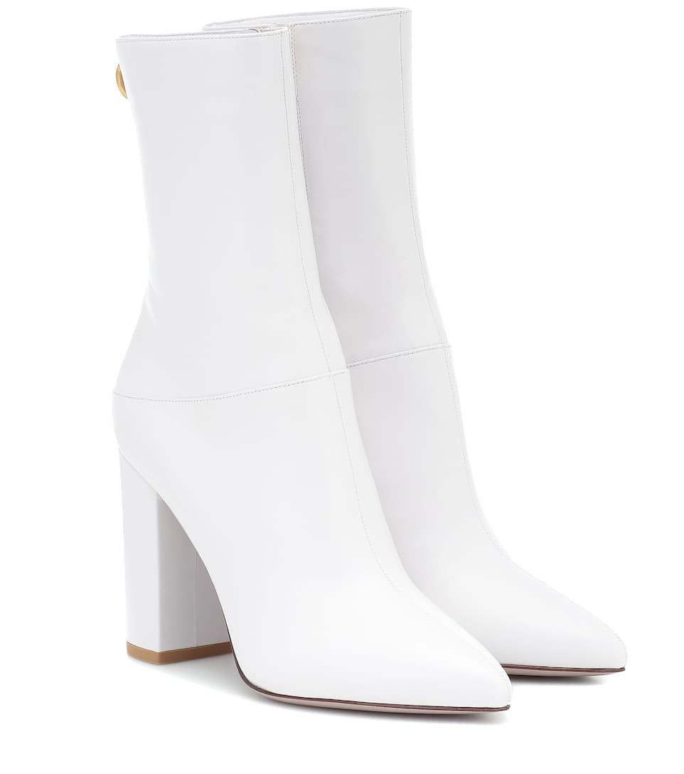 Valentino Garavani Leather Ankle Boots | Valentino - Mytheresa