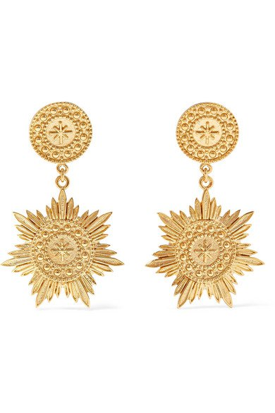 Meadowlark   Soren gold-plated earrings   NET-A-PORTER.COM