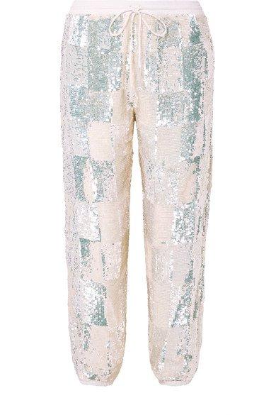 Retrofête | Pantalon de survêtement en mousseline à sequins Stacia | NET-A-PORTER.COM