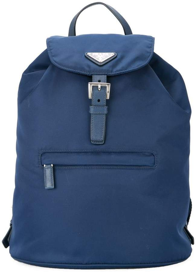 PRE-OWNED logos backpack hand bag