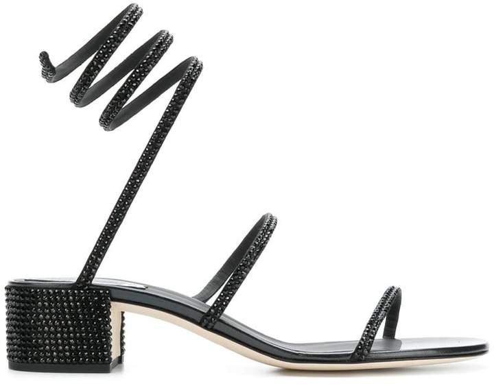 Snake embellished sandals