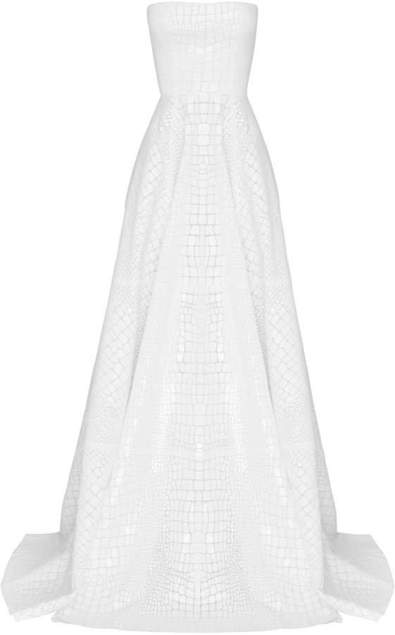 Adams Patterned Georgette Gown