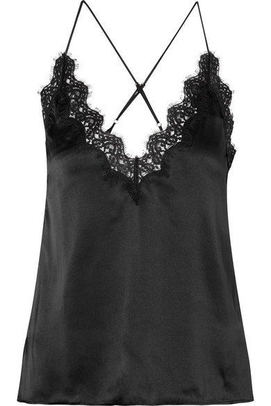 Cami NYC | The Everly lace-trimmed silk-charmeuse camisole | NET-A-PORTER.COM