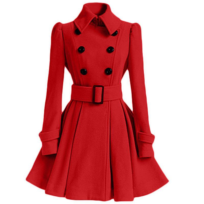 red trench coat women - Google Search