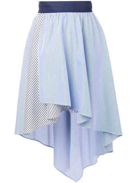 Sonia Rykiel Striped Asymmetric Skirt - Farfetch