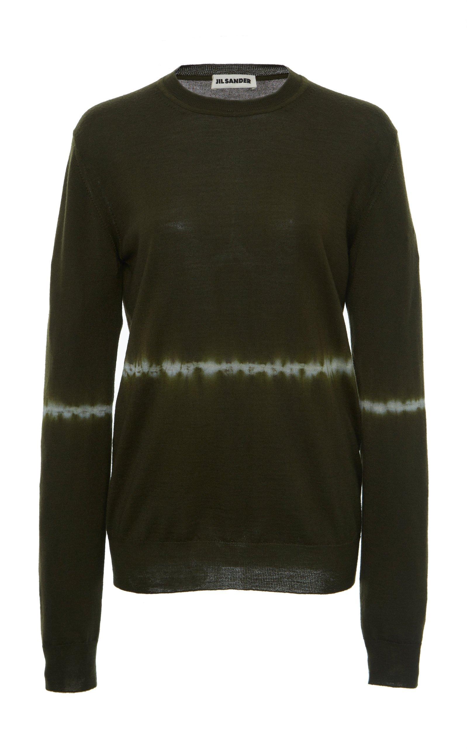 Jil Sander Tie Dye Wool Silk Sweater