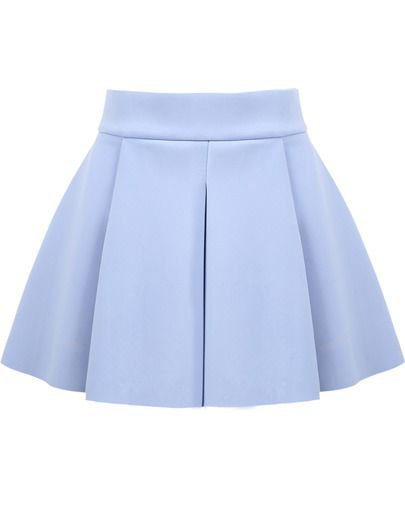 (17) Pinterest - Blue High Waist Ruffle Flare Skirt pictures | Manualidad