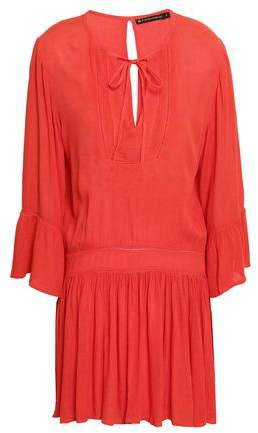 Crinkled Gauze Mini Dress