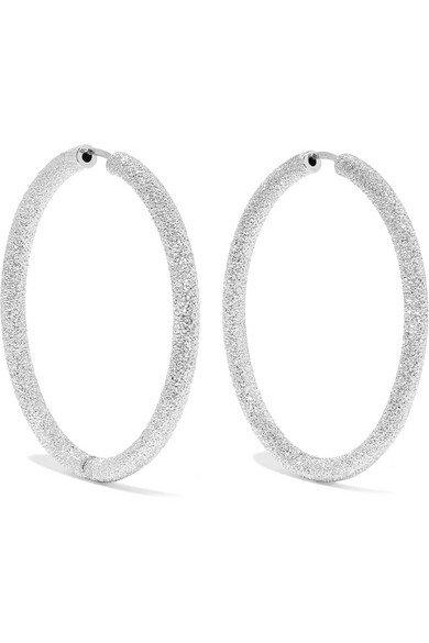 Carolina Bucci | Florentine 18-karat white gold hoop earrings | NET-A-PORTER.COM