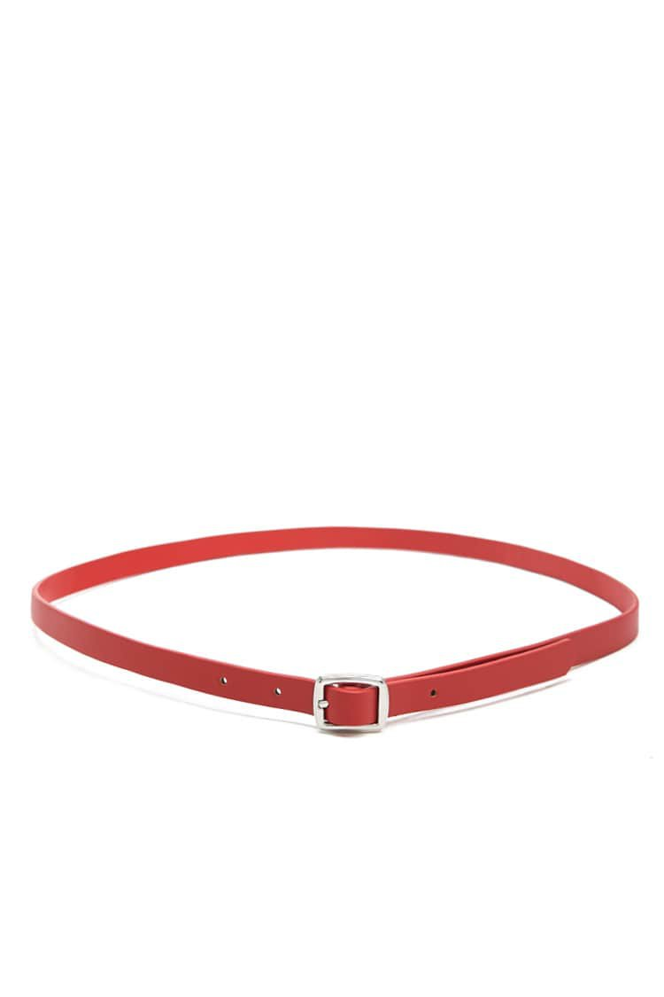 Skinny Faux Leather Belt | Forever 21