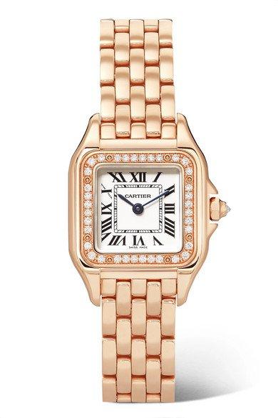 Cartier   Panthère de Cartier 22mm small 18-karat pink gold diamond watch   NET-A-PORTER.COM