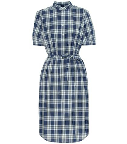 Clea checked cotton midi dress